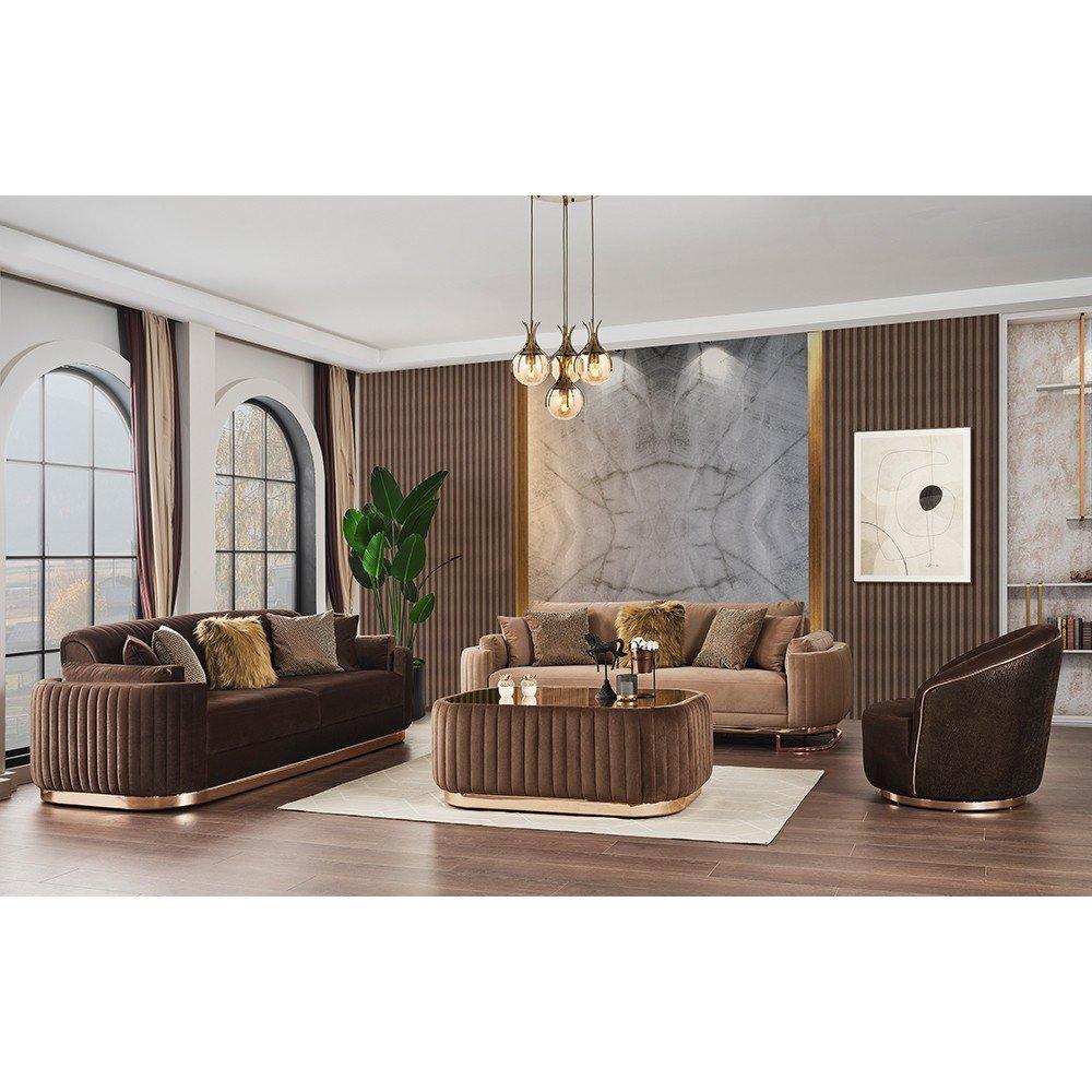 Gloss Sofa Set 3+3+1+1