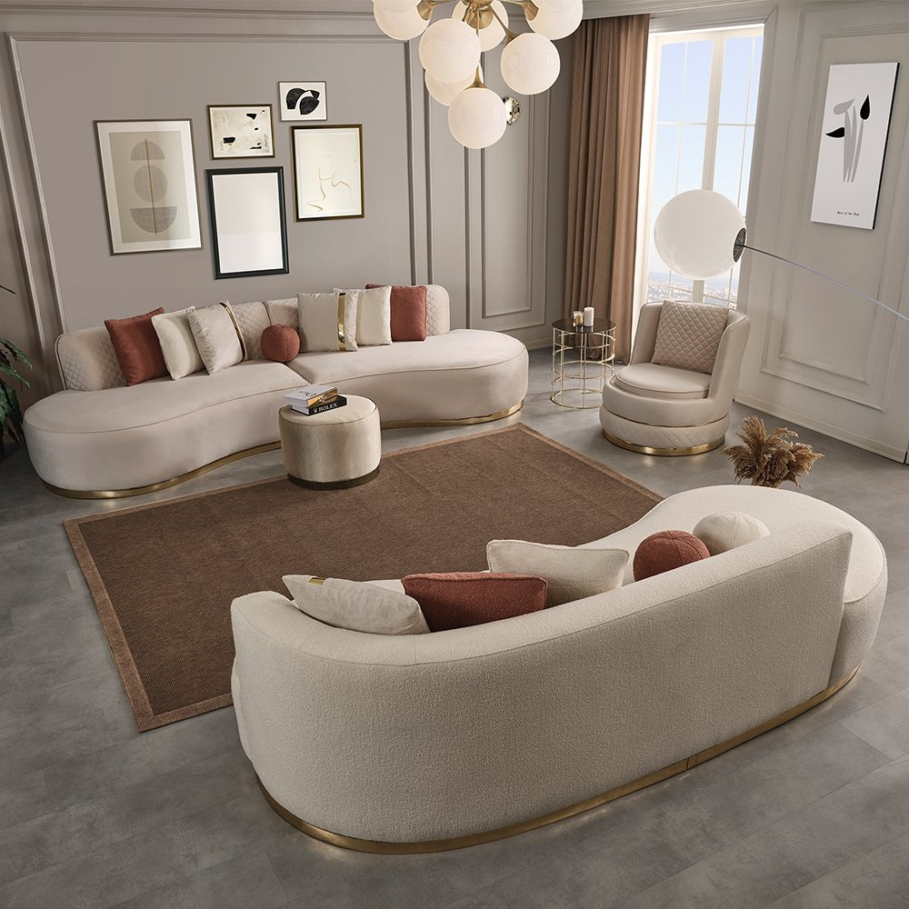 Helsinki 4 + Teddy 3+1+1 Sofa Set